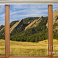 Boulder Colorado Flatirons Window Scenic View by James BO  Insogna