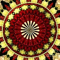 Bouquet Of Roses Kaleidoscope 5 by Rose Santuci-Sofranko