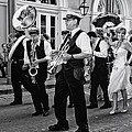 Bourbon Street Second Line Wedding New Orleans In Black And White by Kathleen K Parker