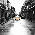 Bourbon Street Taxi French Quarter New Orleans Color Splash Black And White Diffuse Glow Digital Art by Shawn O'Brien