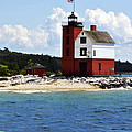 Round Island Light House Michigan by Marysue Ryan