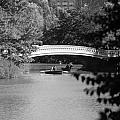 Bow Bridge In Black And White by Rob Hans