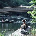 Bow Bridge In Central Park Nyc by Tom Wurl