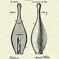 Bowling Pin 1895 Patent Art by Prior Art Design