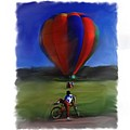 Boy  And Balloon by Mary M Collins