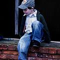 Boy In Window by Kelly Hazel