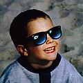 Boy Viewing A Total Solar Eclipse by Detlev Van Ravenswaay