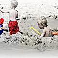 Boys Will Be Boys At The Beach Nj by Gwenn Dunlap