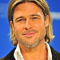 Brad Pitt At The Press Conference by Everett