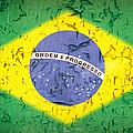 Brazil Flag Vintage by Jane Rix