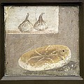Bread And Figs, Roman Fresco by Sheila Terry