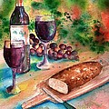 Bread And Wine by Sharon Mick
