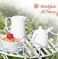 Breakfast Al Fresco by Amanda Elwell