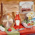 Breakfast At Copper Skillet by Irina Sztukowski