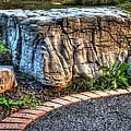 Brenda's Boulder At Dawn Or Altar In The Garden by John Herzog