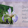 Bridal Shower Invitation - Blue Flag Iris Wildflower by Mother Nature
