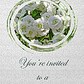 Bridal Shower Invitation - White Spirea by Mother Nature