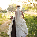 Bride On Country Road by Cindy Singleton