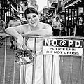 Bride On The Barricade On Bourbon St Nola by Kathleen K Parker