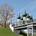 Bridge And Church by Evgeny Pisarev