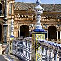 Bridge Of The Spanish Square In Seville by Perry Van Munster