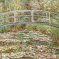 Bridge Over A Pond Of Water Lilies by Tilen Hrovatic