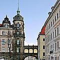 Bridge Over Taschenberg Street Dresden by Christine Till