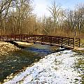 Bridge Over The Creek In Winter by Mike Stanfield