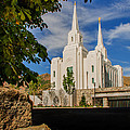 Brigham City Temple Stones by La Rae  Roberts