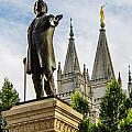 Brigham's Slc Temple by La Rae  Roberts