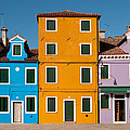 Brightly Painted Houses Of Burano by Petr Svarc