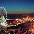 Brighton Wheel And Seafront Lit Up At Night by PhotoMadly