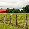 Brillant Red Barn by Douglas Barnett