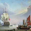 British Man-o'-war Off The Coast by George Webster
