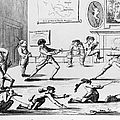 British Officers: Cartoon. English Cartoon Satire, 1777, On The Want Of Training Of British Officers To Prepare Them For The American War by Granger
