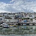 Brixham Harbour - Panorama by Ann Garrett