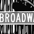 Broadway Sign Color Bw3 by Scott Kelley