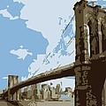 Brooklyn Bridge Color 6 by Scott Kelley