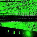 Brooklyn Bridge In Green by Valentino Visentini