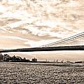 Brooklyn Bridge In Sepia by Bill Cannon