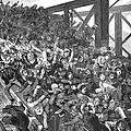 Brooklyn Bridge Panic 1883 by Granger