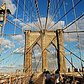 Brooklyn Bridge Summer by Stefa Charczenko