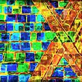 Brooklyn Tile Abstract by Joan  Minchak