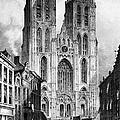 Brussels: Cathedral, 1838 by Granger