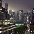 Bryant Park At Night From Roof Looking East by Jon Shireman