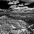 Bryce Canyon Ampitheater - Black And White by Larry Carr