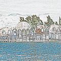 Bubble House In Pencil Skech by Christine Stonebridge