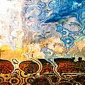 Bubble Landscape Abstract by Debbie Portwood