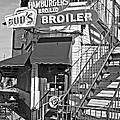 Bud'd Broiler New Orleans-bw by Kathleen K Parker