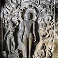 Buddha At Elora Caves India by Sumit Mehndiratta